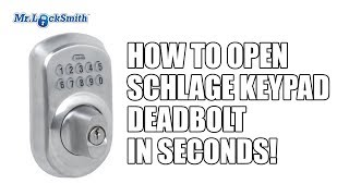 How to Open Schlage Keypad Deadbolt in Seconds! | Mr. Locksmith™ Video