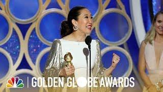 Sandra Oh Wins Best Actress in a TV Series, Drama - 2019 Golden Globes (Highlight)