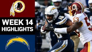 Redskins vs. Chargers | NFL Week 14 Game Highlights