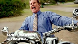 Will Ferrell Crashes with Motorcycle On set of Daddy