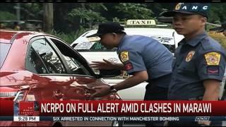 Metro Manila cops on full alert amid clashes in Marawi