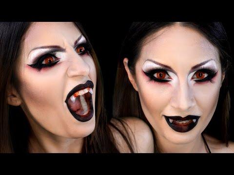 Vampiresa o Demonia Maquillaje Sexy Vampire Demon Halloween Makeup
