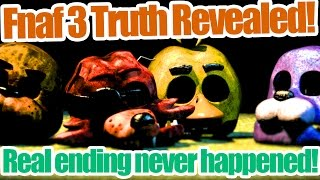Five Nights at Freddy's 3 truth revealed! The real ending never happened!