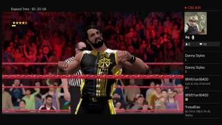 Goldberg vs Giant vs Braun strownan vs seth Rollins / Monday night Raw 2017