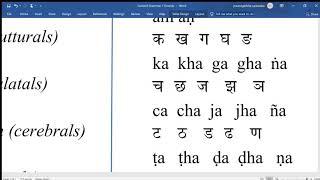 Sanskrit Grammar 1 Sounds