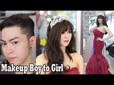 Miss Universe inspired Makeup transformation boy to girl / Makeup ✔