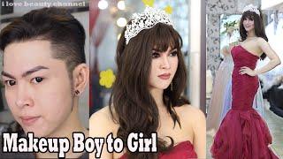 Miss Universe inspired Makeup transformation boy to girl / Makeup ✔