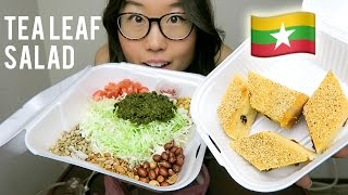 BURMESE FOOD MUKBANG with tea leaf salad & sanwinmakin