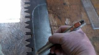 19th century skinning knife from old Saw Blade     Part 1