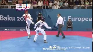 MUHAMMAD (GBR) – BEIGI HARCHEGANI (AZE) | MEN'S-80kg | TAEKWONDO WTF | BAKU 2015 EUROPEAN GAMES