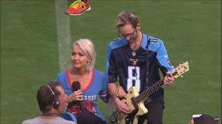 National Anthem Singer Kneels During Titans Game in Support of NFL Protests