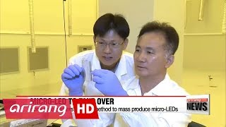 Korean researchers to mass produce micro-LED