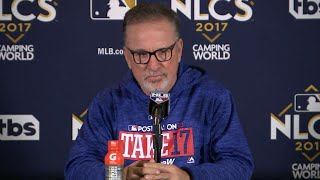 NLCS Gm5: Maddon discusses NLCS loss against Dodgers