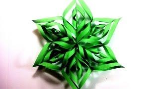 How to Make a 3D Paper Star Xmas Ornament (DIY Tutorial)