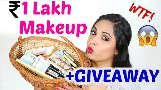 *HUGE* Makeup Haul + Review + GIVEAWAY (High-End Makeup)   ShrutiArjunAnand