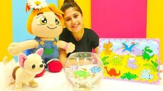 Ayşe Lili ve Loli'ye süs balığı hediye ediyor 🐟. Eğitici #yapbozoyunları ve #kızoyunları