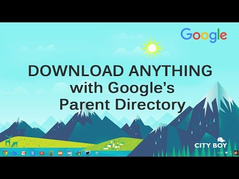 Download anything with google's parent directory