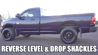 HOW TO LOWER YOUR CUMMINS!! - DROP SHACKLES & BURNOUTS!!!