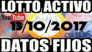 LOTTO ACTIVO DATOS FIJOS PARA GANAR  13/10/2017 cat06