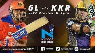 Live IPLT20 : Kolkata Knight Riders vs Gujarat Lions Match Preview on Cric Gully