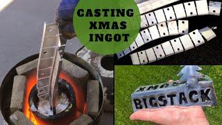 Trash To Treasure - Big Ingot Casting - Casting Solid Xmas Ingot Aluminium