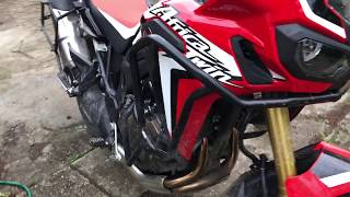Africa Twin - forest test-ride