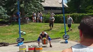 2016 Michigan's Strongest Man & Woman Competition: Keg Toss Event