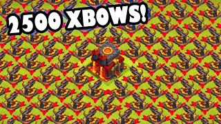 2500 XBOWS? - Clash of Clans -