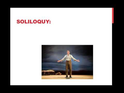 Soliloquy, Monologue, and Aside