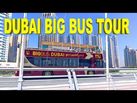 Dubai Big Bus Tour - Day & Night 2016 4K