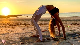 Yoga Workout For Your Waistline ♥  Beautiful Sunset Core Toning | Tip Of Borneo