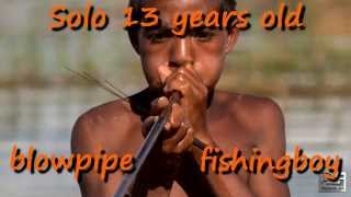 13 year old blowpipe fishing in Madagascar.