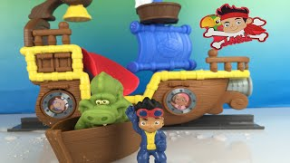 Disney Jake and the Neverland Pirates - Splashing Bucky Bath Toy by DisneyToysReview