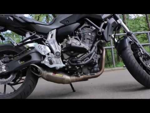 Yamaha MT-07 Beschleunigung (Acceleration) 0-100 km/h 48Ps vs 75PS / Arapovic / Drohne