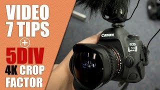Canon 5D Mark IV Video Tips and Tricks