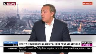 """""""Ma mort m'appartient"""" interview de Christophe Michel sur Cnews (23 mai 2018)"""