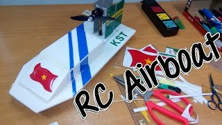 How To Build Airboat RC with brushless motor