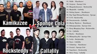 Kamikazee, Sponge Cola, Callalily, Rocksteddy Nonstop -  OPM Tagalog Love Songs   Full Album 2018