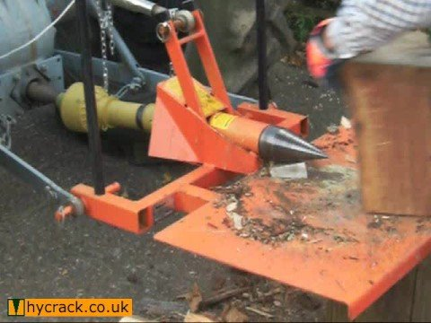 Tractor powered PTO log splitter by HyCrack