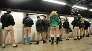 Uncensored No Underwear Subway Ride