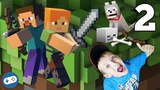 Minecraft Survival Let's Play Gameplay Part 2 with Liam