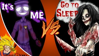 JEFF THE KILLER vs PURPLE GUY! Cartoon Fight Club Episode 37 REACTION!!!