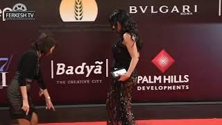 فضيحه الفنانه رانيا يوسف تلبس فستان فاضح