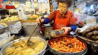 KOREAN STREET FOOD - Gwangjang Market Street Food PART 2 | SPICY Korean Food in Seoul South Korea