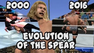 An Evolution of Edge's Spear from Smackdown! to WWE 2K17