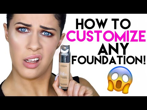 HOW TO CUSTOMIZE ANY FOUNDATION!! CHANGE THE FINISH, COVERAGE & WEAR TIME IN SECONDS!!