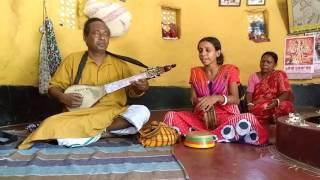 Baul  Basudeb Das his daughter and wife.
