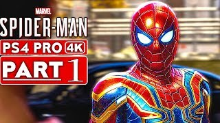 SPIDER MAN PS4 Gameplay Walkthrough Part 1 [4K HD PS4 PRO] - No Commentary (SPIDERMAN PS4)