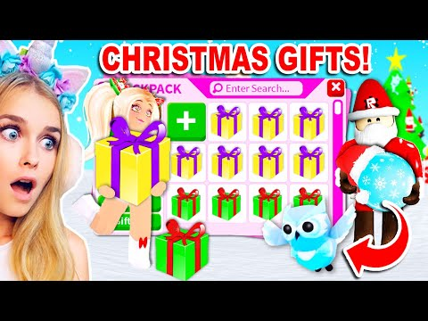 Open The MOST LEGENDARY GIFTS From SANTA To Get THIS MYSTERY GIFT In Adopt Me Roblox