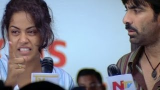 Highlight  Dailouges By Mumaith khan On Media - Neninthe Scenes - Raviteja, Siya